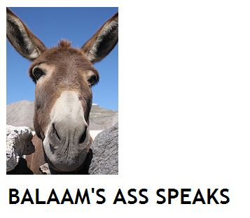 Balaams ass speaks journal